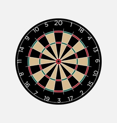 Classic dartboard isolated on white background vector image