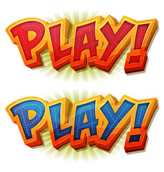 play icon for ui game vector image
