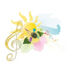 summer music vector image vector image