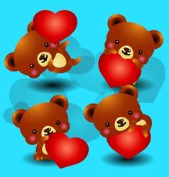 valentine bears vector image vector image