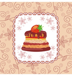 Cake pattern background vector image vector image