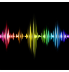 Colorful music equalizer background vector image vector image