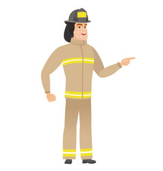 furious firefighter screaming vector image