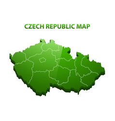 highly detailed three dimensional map of czech vector image vector image