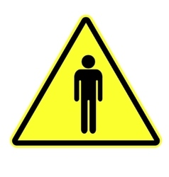 Man attention sign vector image vector image
