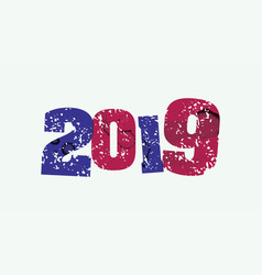 2019 concept stamped word art vector