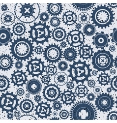 Background metallic with gears vector image vector image