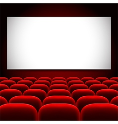 Cinema screen and red seats background vector