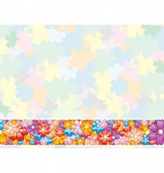 floral pastel background vector image vector image