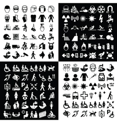 Graphic icon collection vector image vector image