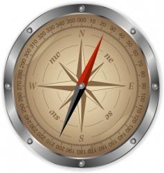 metal compass vector image vector image
