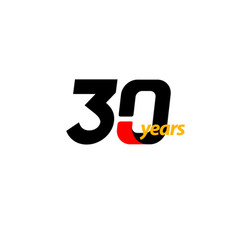 30 years anniversary celebration template design vector