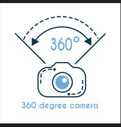 360 degree camera icon vector