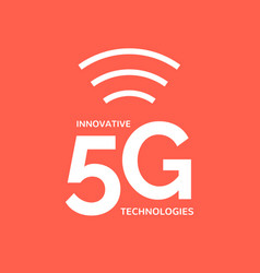 5g wireless internet connection network background vector image