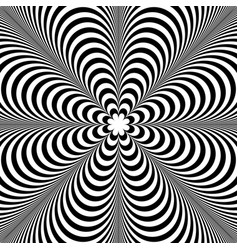 Abstract element with radiating lines monochrome vector