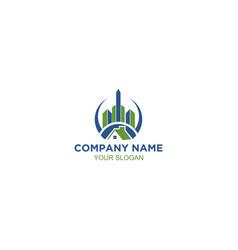 apartment house real estate icon logo design elem vector image
