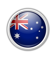 Australian circular badge vector