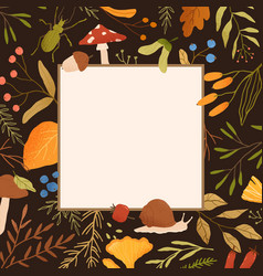 autumn frame flat border vector image