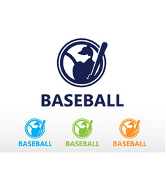 Baseball logo shot ball logo sport creative logo vector
