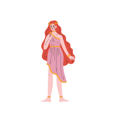 beautiful aphrodite olympian greek goddess vector image