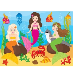 Beautiful Mermaids vector image
