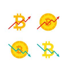 Bitcoin up down graph vector