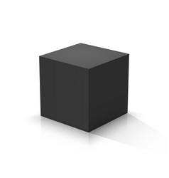black cube vector image