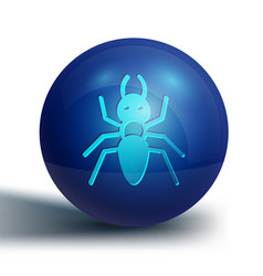 Blue ant icon isolated on white background vector