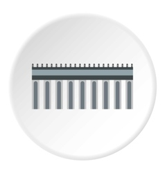 Bridge with iron supports icon flat style vector