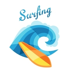Bright surfing or print for t-shirts vector image