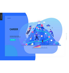 Business series - career web template vector