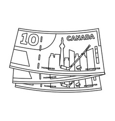 canadian dollar canada single icon in outline vector image