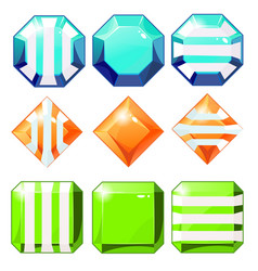 cartoon gems and diamonds vector image