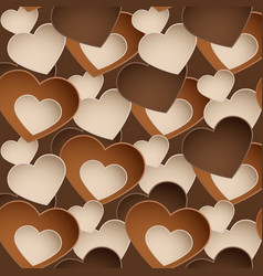 chocolate pattern with sweetmeat in form heart vector image