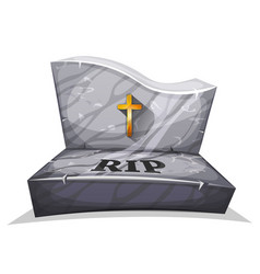christian marble tombstone with rip vector image