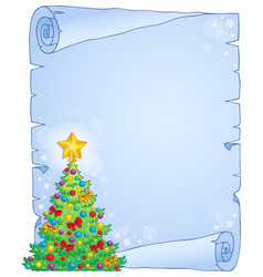 Christmas thematic parchment 7 vector