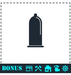 Condom icon flat vector image
