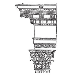 Corinthian frame its a frame work style of the vector