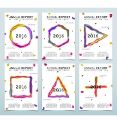 Covers of the white annual reports vector image