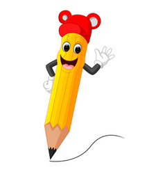 cute pencil cartoon vector image