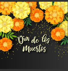 Decorative background with orange marigolds vector