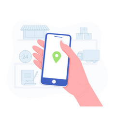 Delivery package or order tracking concept vector