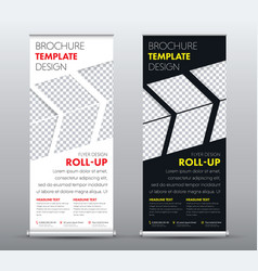 design a universal business roll up banner vector image