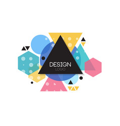 design logo template minimalist design element vector image