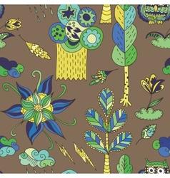 Doodle spring pattern vector image