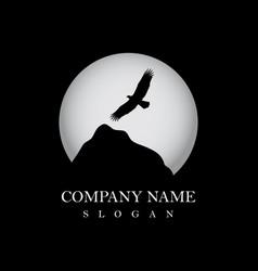 Eagle flying logo vector
