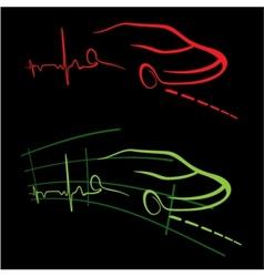 EKG of auto vector image