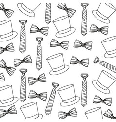 Elegant acessories of man background vector