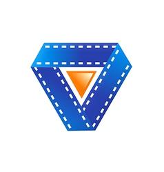 film movie play symbol logo vector image
