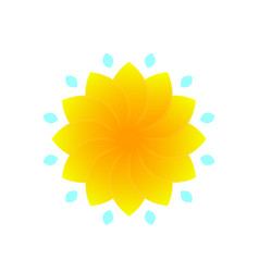 flower for logo design yellow on white vector image